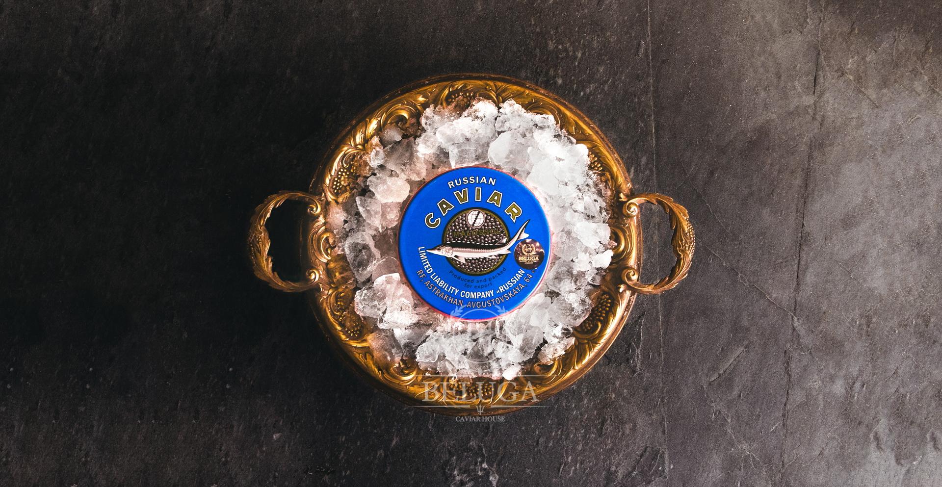 Sterlet black caviar
